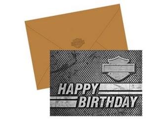 Birthday Card Silhouette Bar&Shield HDL-20075 Geburtstagskarte