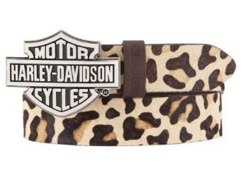 "Damen Gürtel ""Wild Night Out"" Bar & Shield Leopard HDWBT11700"