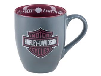 Mug -H-D Enjoy the Ride Mug- HDX-98628 Bar & Shield Grey