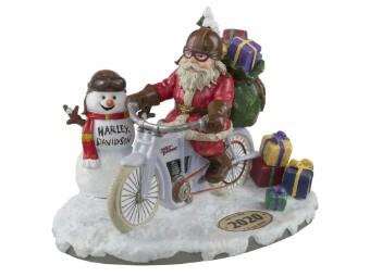 Harley-Davidson Biker-Santa Figur HDX-99181 Handbemalt Geschenke Schneemann