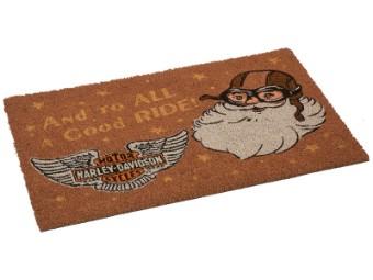 Harley-Davidson Biker-Weihnachtsmann-Fußmatte HDX-99186 Türvorleger Logo