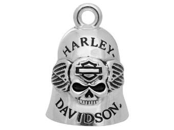 """Harley-Davidson """"RIDE BELL SKULL & WINGS"""" Glücksglöckchen HRB045"""