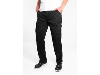 Regular Cargo Black Motorcycle trousers Men's Stretch  JDC2001
