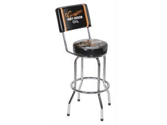 Classic Genuine Barstool HDL-12203 black chrome backrest