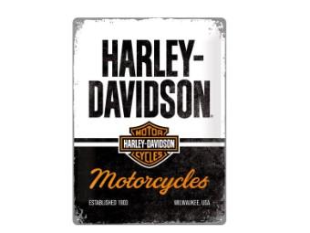 """Nostalgisches Blechschild NA23266 """"Harley-Davidson"""" 30x40cm"""