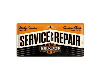 "Nostalgic Metal Sign ""Service & Repair"" 25x50 cm"