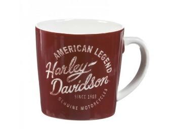 Heritage Americano Keramik Tasse NA3MH4908 Burgund 355ml