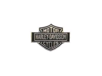 Nameplate Bar & Shield 90971-79 Schwarz Chrome Klebefläche