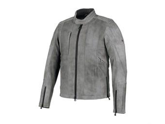 Leather jacket Burghal grey 98061-19EM Slim Fit