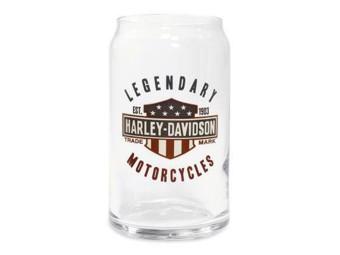 Orig. Harley-Davidson Sodaglas, Longdrinkglas, Sammlerstück 96891-16V