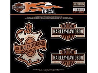 Original Harley-Davidson Sticker -OAK LEAF- Decal DC111382