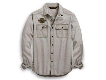 Original Harley-Davidson Men's Shirt CHAMBRAY LOGO 96647-19VM