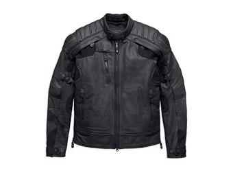 Men's Leather Jacket FXRG Gratify Coolcore 98051-19EM Black