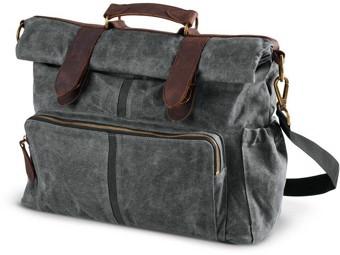 Original Harley-Davidson Waxed Canvas Messenger & Sissy Bar Bag *93300116*