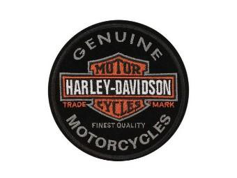 Patch/Emblem -GENUINE Motorcycles- Patch EM312642 black Logo