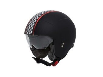 Rocker Helm PR9ROC06 Schwarz Rallye-Stripes zertifiziert