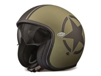 Vintage Jethelm Star Military Olivgrün PR9VIN22