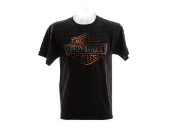 "Ricks Herren T-Shirt ""DK Shield"" Schwarz R003662"
