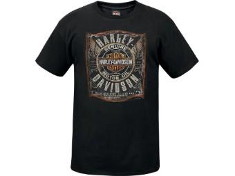 """Ricks Herren T-Shirt """"Garage Oil"""" Schwarz R003665"""