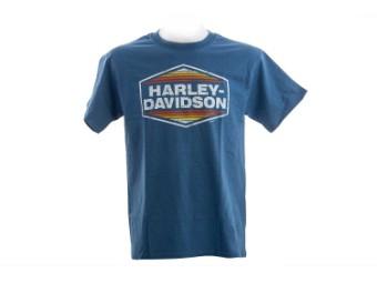 """Rick's Herren T-Shirt """"AMF Diamond"""" Blau  R003684"""