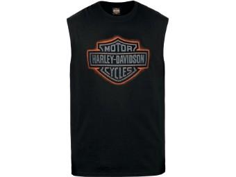 Ricks Herren T-Shirt ärmellos Schwarz  R003711