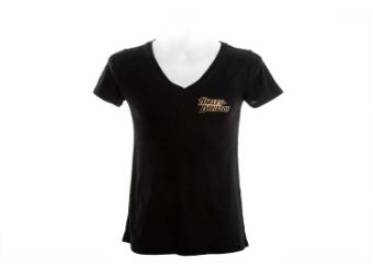 "Ricks Women's T-Shirt ""Chiseled"" Black  R003755"