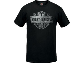 "Harley-Davidson Herren Dealer Shirt ""Concrete Logo"" R003775 Schwarz Bar & Shield"