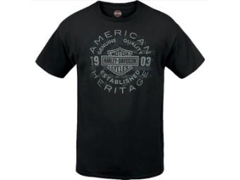 "Harley-Davidson Herren Dealer Shirt ""Ratio"" R003778 Schwarz American Heritage"