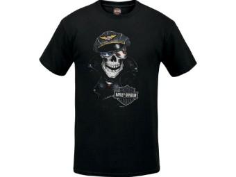 """Herren Dealer Shirt """"Rebel Skull"""" R003779 Schwarz Totenkopf B&S"""