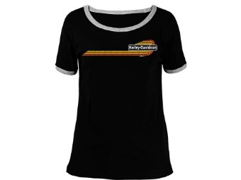"Harley-Davidson ""Ringer Stripe"" Dealer Women's Shirt"