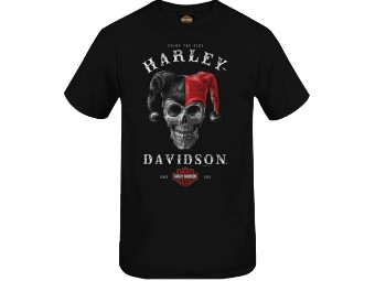"""Harley-Davidson Herren Dealer Shirt """"Graphic Jester"""" R004005 Schwarz Bar & Shield"""