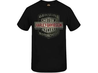 """Harley-Davidson Herren Dealer Shirt """"Scrub Shield"""" R004007 Genuine Schwarz"""