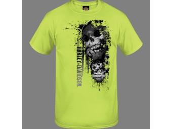 "Harley-Davidson Herren Dealer Shirt ""Side Shadow"" R004023 Neon Skull"