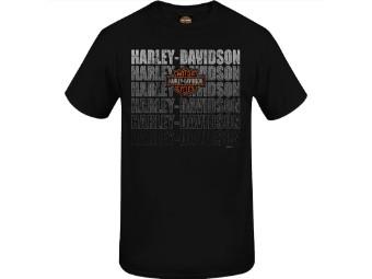 "Harley-Davidson Herren Dealer Shirt ""Dust"" R004044 Schwarz Bar & Shield"