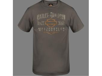 """Harley-Davidson Herren Dealer Shirt """"Fury Name"""" R004048 Grau Bar & Shield"""
