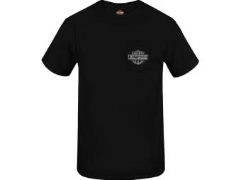 "Harley-Davidson Herren Dealer Shirt ""Up Flames"" R004053 Schwarz Bar & Shield"