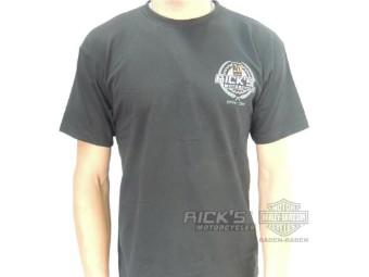 "Ricks Dealer Shirt ""20. ANNIVERSARY"" schwarz Customizing 33-AB2014"