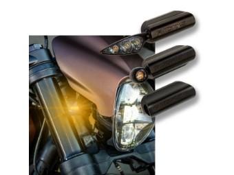 Blinkerhalterung vorne Softail FXDR inklusive Kellermann Rhombus S Blinkern