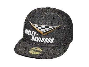 "Harley-Davidson Baseball Cap ""RACE FLAG"" 97664-18VM Flagge NEW ERA 59FIFTY"