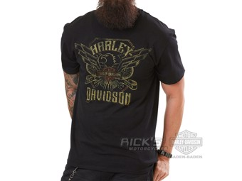 "Ricks Harley-Davidson ""Biker Challenge"" Dealer Herren T-Shirt 5L33-HH3Y Tee"