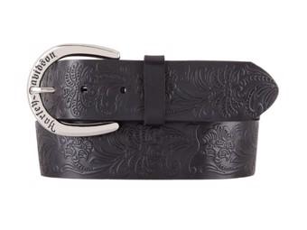 LadiesLeather Belt -DIXI- HDWBT11526 Black