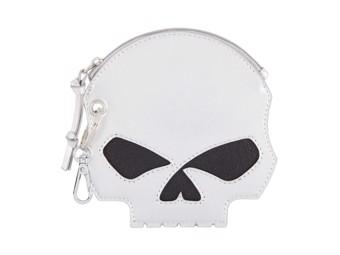Ladies Purse HDWWA11599 Silver Willi G. Skull