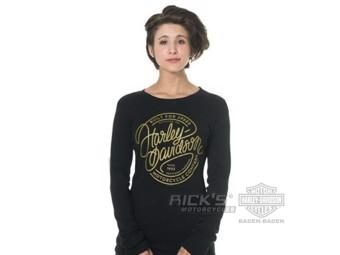 """Ricks Harley-Davidson Dealer Shirt """"CURVES"""" Damen Langarmshirt 30298686"""