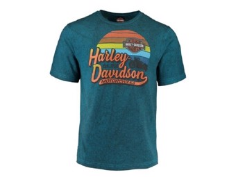 "Harley-Davidson Dealer Shirt ""GONE RIDING"" 5J0M-HH4W Türkis"