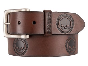 "Men's Belt ""WILLIE`S WORLD"" Brown HDMBT11333"
