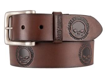 Men's Belt -WILLIE`S WORLD- Brown HDMBT11333