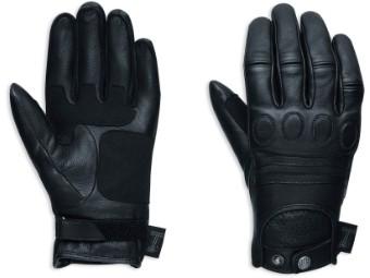 Leder Handschuhe Damen 98375-17EW Schwarz