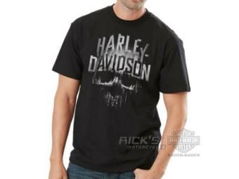 """Ricks Harley-Davidson """"Mechanic Skull"""" Dealer Herren Shirt 5L33-HH3B"""