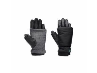 Motorrad Handschuhe Damen 97383-17VW Schwarz Grau