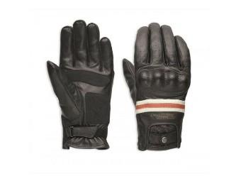 Motorrad Handschuhe Damen 98180-18EW Schwarz Leder